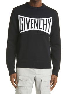 Givenchy Intarsia Logo Cotton Sweater