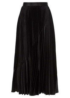 Givenchy Inverted-pleat satin midi skirt