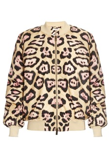 Givenchy Jaguar-print padded bomber jacket