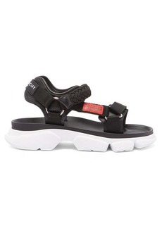 Givenchy Jaw contrast-panel leather sandals