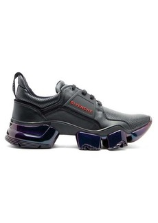Givenchy Jaw raised-sole iridescent-leather trainers