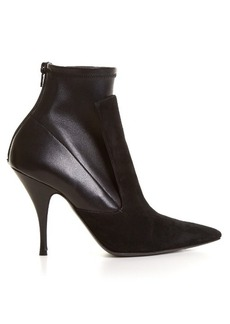 Givenchy Kalli suede and leather high-heel ankle boots