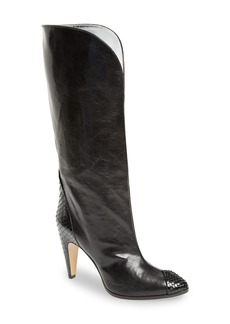 Givenchy Kangaroo Leather & Genuine Python Boot (Women)