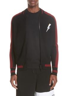 Givenchy Knit Teddy Wool Varsity Jacket