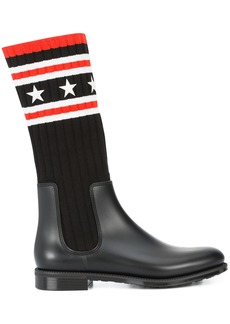 Givenchy knitted star rainboots - Black