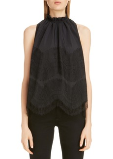 Givenchy Lace Detail Taffeta Top