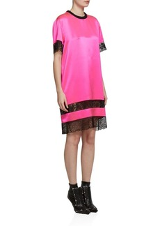 Givenchy Lace Inset Silk T-Shirt Dress