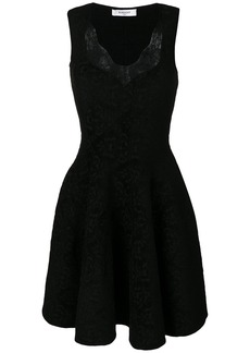 Givenchy lace trim flared dress - Black