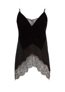 Givenchy Lace-trimmed velvet camisole