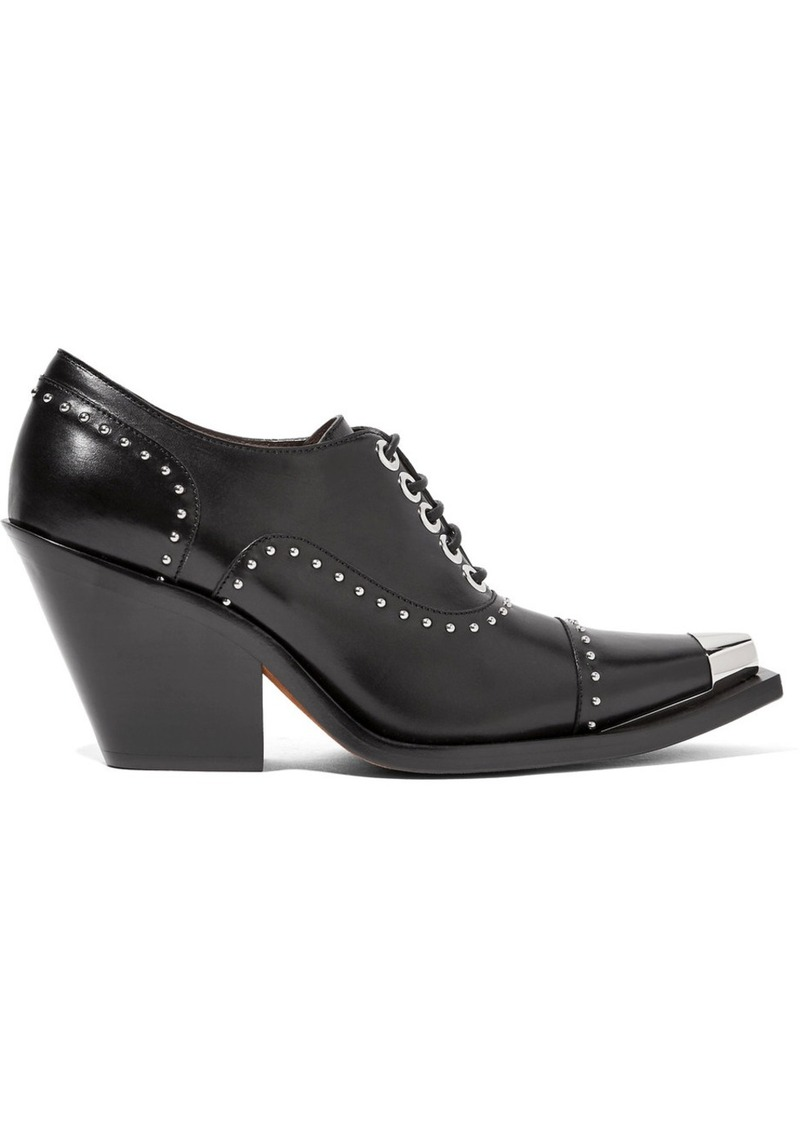 30da889ce60 Givenchy Givenchy Lace-up studded pumps in black leather