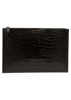 Givenchy Large Antigona Croc Embossed Leather Pouch