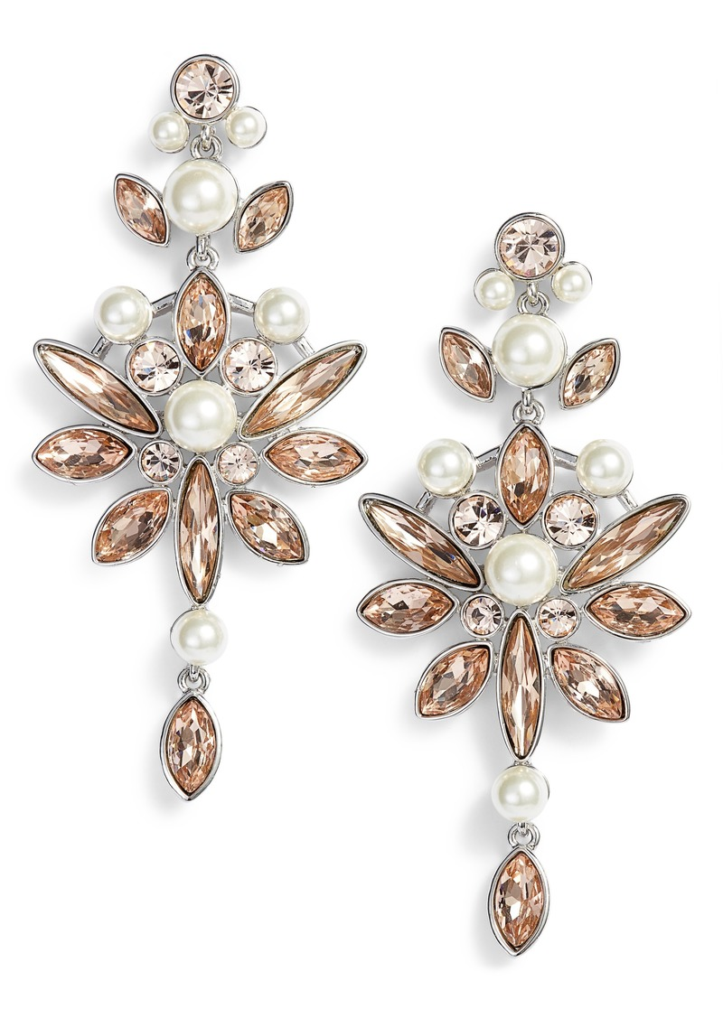 Givenchy Large Crystal Drop Earrings