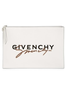 Givenchy Large Signature Calfskin Leather Pouch