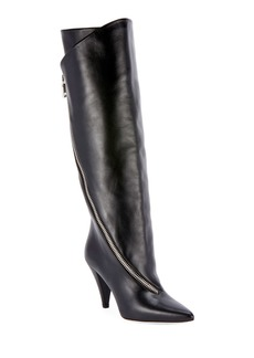 Givenchy Leather Asymmetric Knee Boots