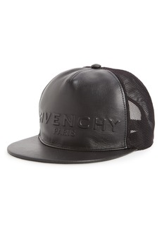 Givenchy Leather Front Trucker Cap