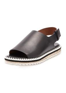 Givenchy Leather Slingback Espadrille Sandal