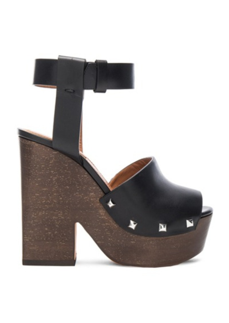 Givenchy Leather Sofia Clog Sandals