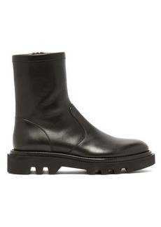 Givenchy Leather tread-sole combat boots
