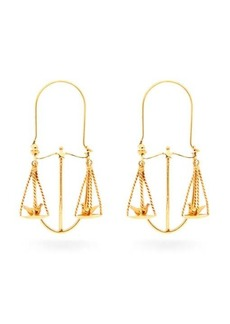 Givenchy Libra zodiac hoop earrings