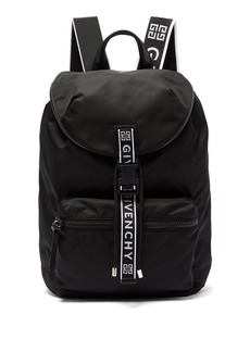 Givenchy Light 3 leather-trimmed nylon backpack