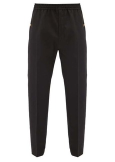 Givenchy Logo-button wool track pants