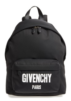 Givenchy Logo Canvas Backpack
