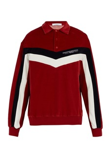 Givenchy Logo-embroidered chevron striped sweatshirt
