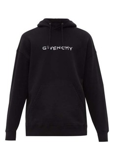 Givenchy Logo-embroidered cotton-jersey hooded sweatshirt