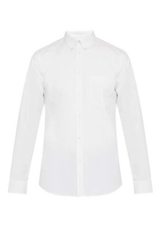 Givenchy Logo-embroidered cotton-oxford shirt
