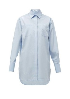 Givenchy Logo-embroidered cotton-poplin shirt