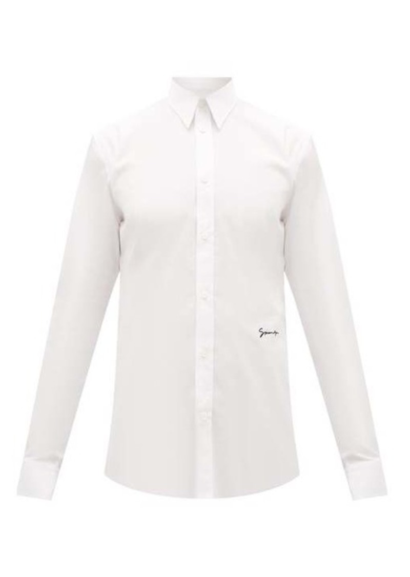 Givenchy Logo-embroidered cotton shirt