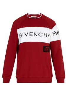 Givenchy Logo-embroidered cotton sweater
