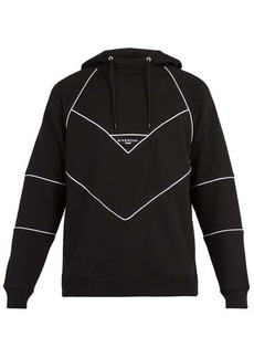 Givenchy Logo-embroidered hooded cotton sweatshirt