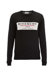 Givenchy Logo-intarsia wool sweater