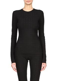 Givenchy Logo Jacquard Crewneck Sweater