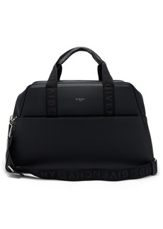 Givenchy Logo-jacquard leather duffle bag