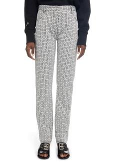 Givenchy Logo Jacquard Straight Cut Pants