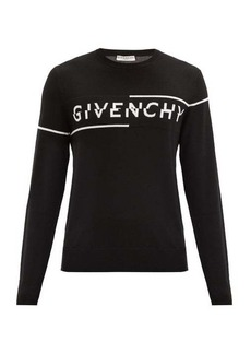 Givenchy Logo-jacquard wool sweater