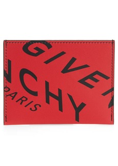 Givenchy Logo Leather Card Case