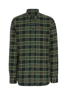 Givenchy Logo-Patch Plaid Cotton Shirt