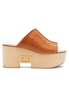 Givenchy Logo-plaque platform leather mules