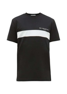 Givenchy Logo-print striped cotton T-shirt