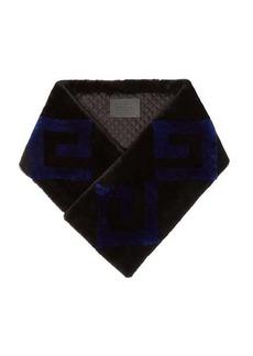 Givenchy Logo shearling scarf