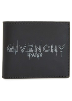 Givenchy Logo Sketch Leather Bifold Wallet