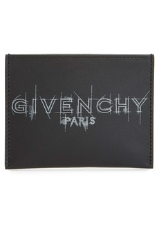Givenchy Logo Sketch Leather Card Holder