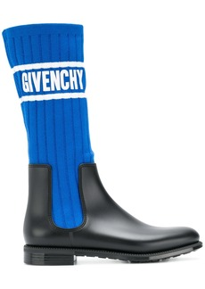 Givenchy logo sock boots - Blue