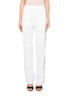 Givenchy Logo Straight-Leg Neoprene Jersey Track Pants