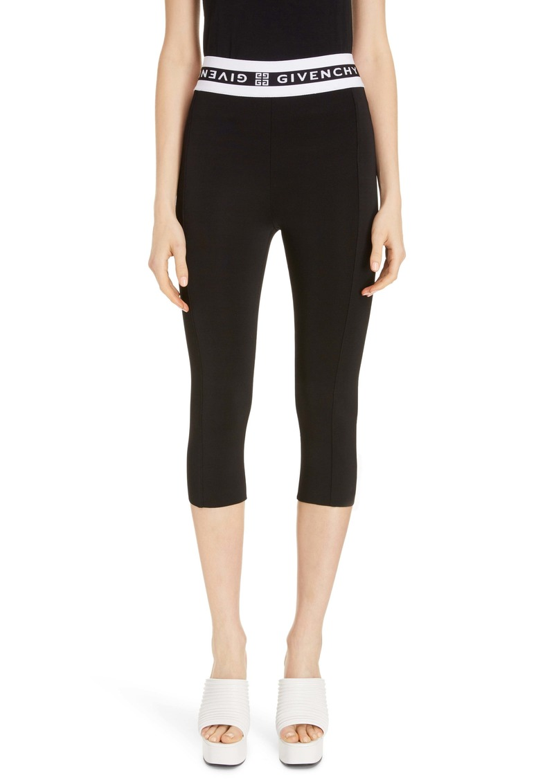 Givenchy Logo Waist Crop Leggings