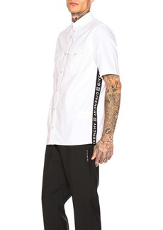 Givenchy Logo Webbing Denim Shirt