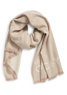 Givenchy Logo Wool & Cashmere Scarf